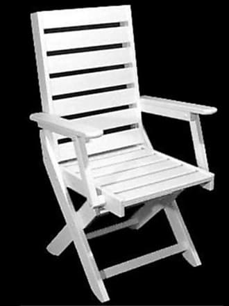 POLYWOOD Outdoor POLYWOOD Captain Recycled Plastic Dining Chair Hunter Green, Patio Furniture - CC4423-1GR