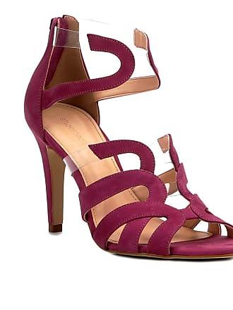 8cb4c26ac6 Shoestock Sandália Couro Shoestock Salto Fino Ondas Vinil Feminina -  Feminino