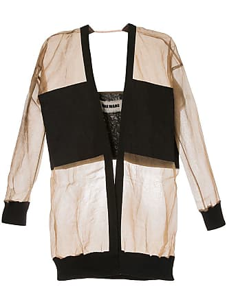 Uma Wang contrasting panel jacket - Brown