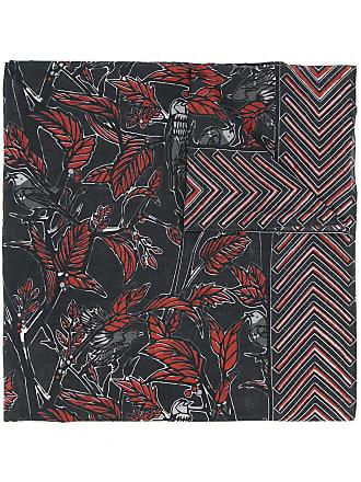 Yoshiokubo dry leaf scarf - Black