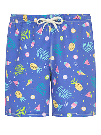 PURPLE YELLOW SHORT MASCULINO FRUITS - AZUL