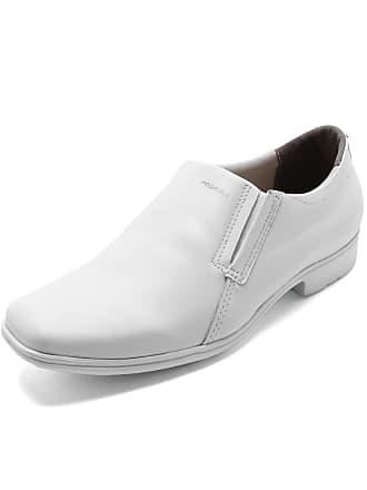 Pegada Sapato Social Couro Pegada Recortes Branco