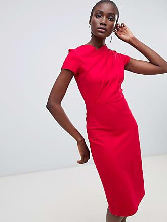 Finery Miller twist pencil dress - Red