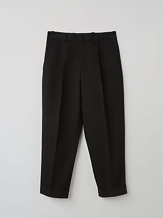 Acne Studios FN-MN-TROU000133 Black Cropped pleated trousers