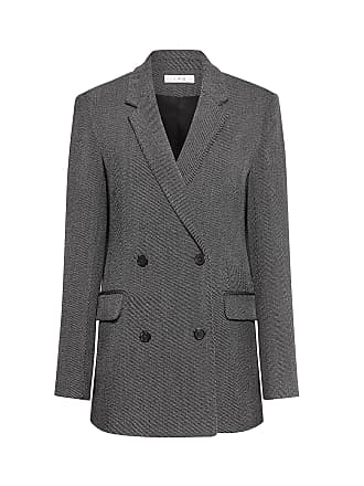 Iro Double Breasted Wool Blazer Black/white
