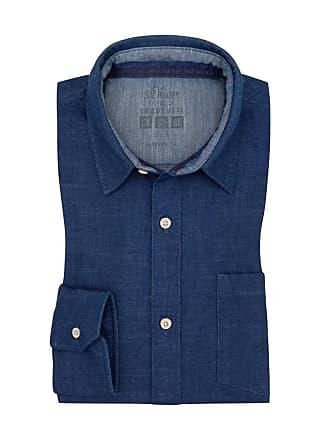 Oliver Übergröße   s. Oliver, Freizeithemd in Jeans-Optik Blau für e1e415a6c8