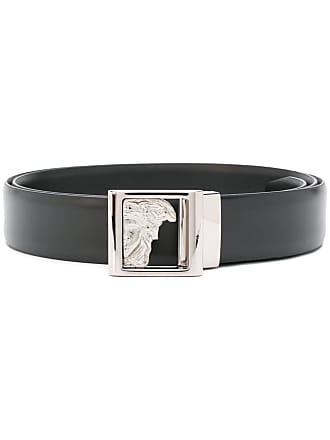 5ca3fc99544 Versace Collection Medusa plate buckle belt - Black