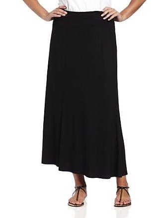 Karen Kane Womens Plus Size Maxi Skirt, Black, 2X