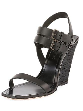 96b7e8f3823 Saint Laurent Leather Wedge Espadrille Sandal