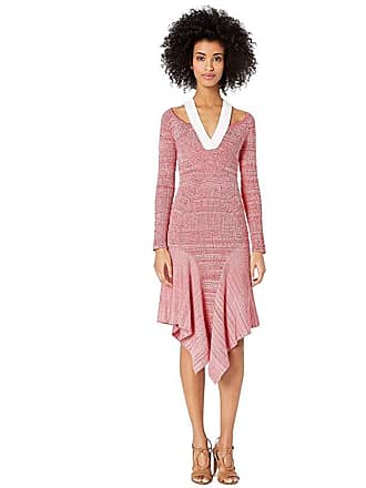 Yigal AzrouËl Melange Knit Dress with Cut Outs (Crimson Multi) Womens Dress