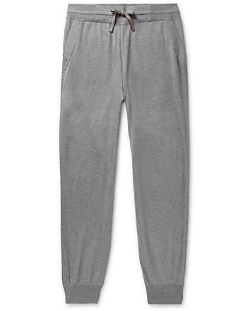 42e5da2bcdfc49 Loro Piana Portland Tapered Mélange Cashmere And Silk-blend Sweatpants -  Gray