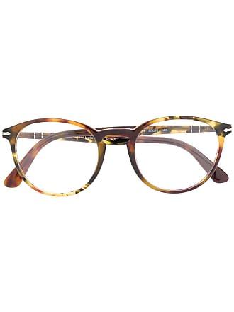Persol Armação de óculos redondo - Marrom