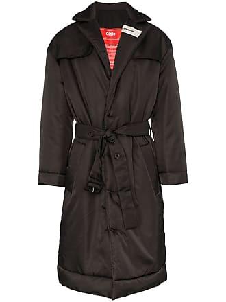 032c Cosmic workshop padded trench coat - Black