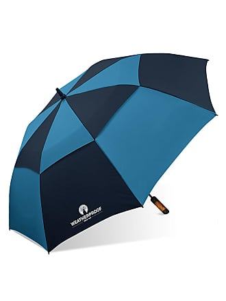 Weatherproof Auto Open Double-Canopy Golf Umbrella