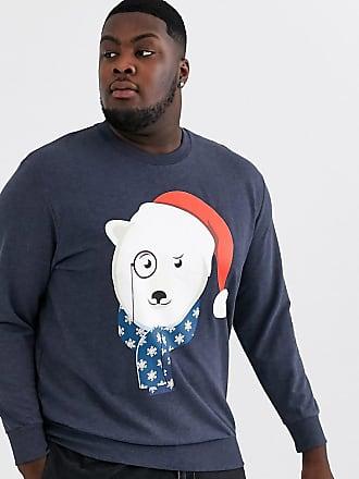 Jack/&Jones Green and Blue Sweatshirt Bear