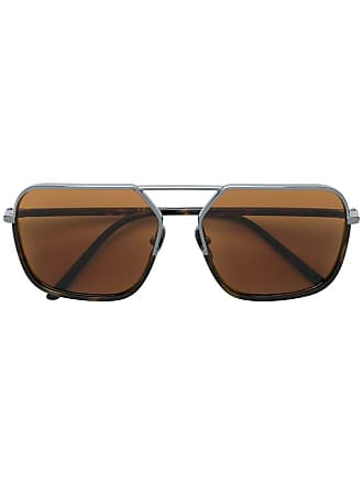 Dolce & Gabbana Eyewear Óculos de sol retangular - Marrom