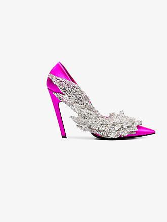 Pumps Beaded Balenciaga Pink 110 Slash Satin qTwK0H1AYx