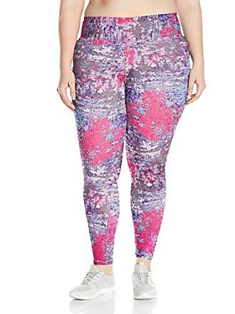 Fruit Of The Loom Fit for Me by Fruit of the Loom Womens Plus Size Legging, Neon Coral/Active Abstract Print, 1X