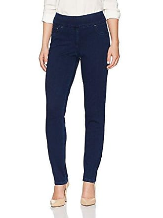 Ruby Rd. Womens Petite Pull-on Knitted Indigo Twill Pant, 16P