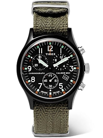 Timex Mk1 Camper Chronograph 40mm Aluminium And Webbing Watch - Black
