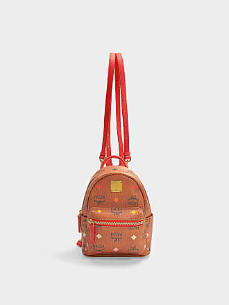 6e062037246dd MCM Stark Spektrum Visetos Backpack 20 in Spectrum Diamond Cognac Synthetic  Fabric
