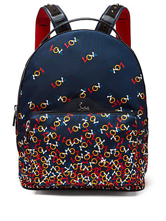 8a2640495d31 Christian Louboutin Backloubi Printed Backpack - Mens - Navy Multi
