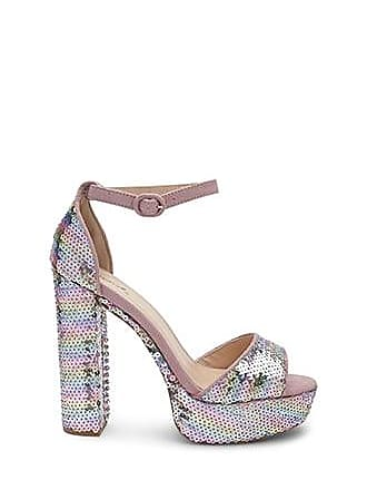 Forever 21 Forever 21 Qupid Sequined Chunky Heels Pink/multi