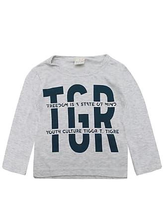 Tigor T. Tigre Camiseta Tigor T. Tigre Menino Lettering Cinza