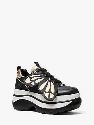 Michael Kors Felicia Butterfly Embellished Leather Platform Trainer