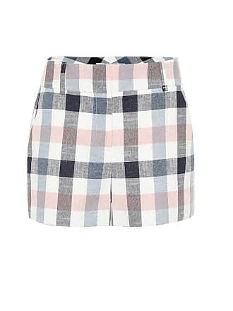 Veronica Beard Ilene checked cotton-blend shorts