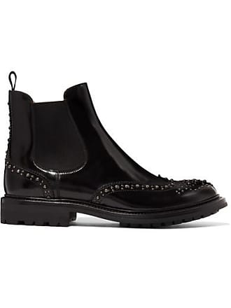 Churchs Aura Met Studded Glossed-leather Chelsea Boots - Black