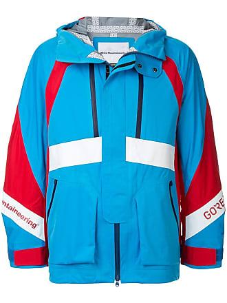 White Mountaineering Jaqueta corta-vento color block - Azul