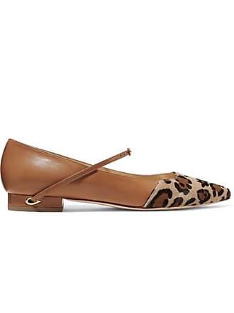 8902babc8 Jennifer Chamandi Lorenzo Leopard-print Calf Hair And Leather Point-toe  Flats - Leopard