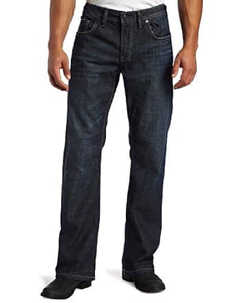 Buffalo David Bitton Mens Travis Relaxed Straight Leg Jean in Dark Contrasted, Dark Contrasted, 31x32
