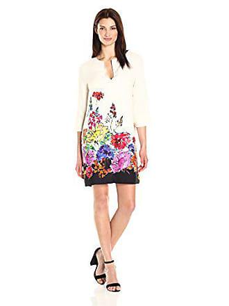 Karen Kane Womens Floral Border Shift Dress, Print, S