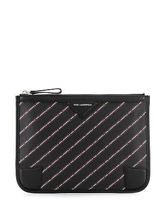 Karl Lagerfeld Clutch com logo - Preto