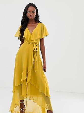 903bbb4d Asos Tall ASOS DESIGN Tall maxi dress with cape back and dipped hem
