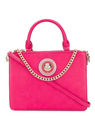 Versace Jeans Couture Bolsa tote com logo - Rosa