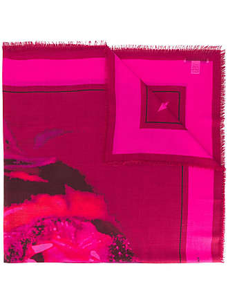 Givenchy Echarpe com estampa de rottweiler - Rosa