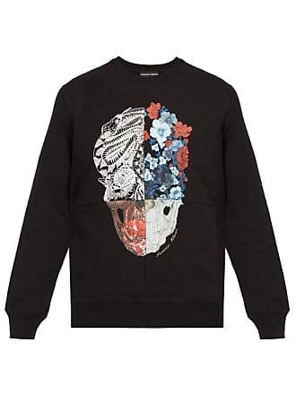 Alexander McQueen Alexander Mcqueen - Patchwork Skull Print Sweatshirt - Mens - Black Multi