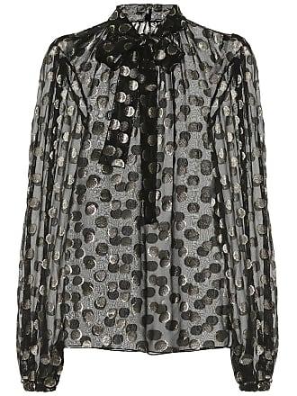 7dab5792 Polka-dot Metallic Fil Coupé Silk-blend Chiffon Blouse - Black. Delivery:  free. Dolce & Gabbana Fil coupé silk blouse