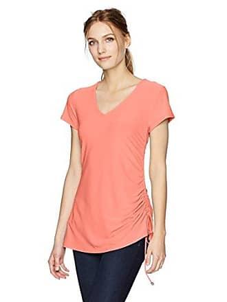 Jones New York Womens V-nk S/SLV Asymmetric Hem P/o W/tie, Coral, L