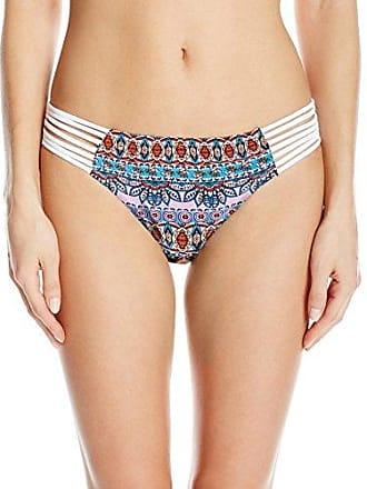 07679897bb335 Jessica Simpson Womens Versailles Side Strap Bikini Bottom, White, S