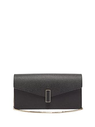 Valextra Iside Grained Leather Clutch - Womens - Black