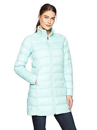 Amazon Essentials Womens Lightweight Water-Resistant Packable Down Coat, Icicle Blue, Small
