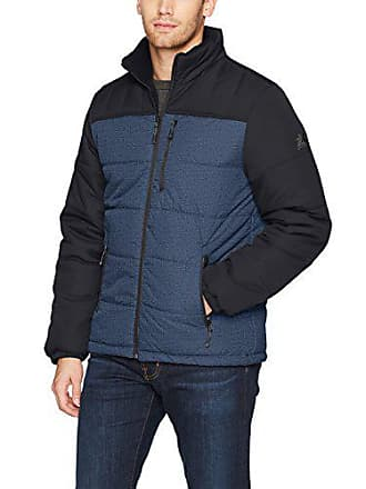 ZeroXposur Mens Flex Quilted Puffer Jacket, Navy Denim, Medium