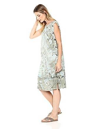 Xcvi Womens Jamila Dress Nova Gauze Soli, Monterey wash//Military Olive XL
