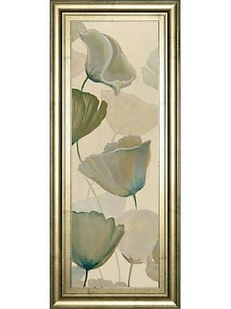 Classy Art Poppy Impression Panel 1 Framed Wall Art - 18W x 42H in. - 1603