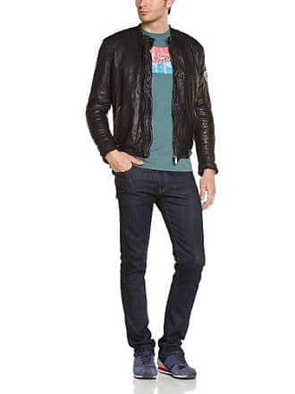 c75eacb39f1 Pepe Jeans London New Lennon - Veste en cuir - Manches longues - Homme -  Noir