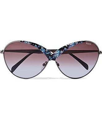 Emilio Pucci Emilio Pucci Woman Round-frame Printed Acetate And Metal Sunglasses Lavender Size